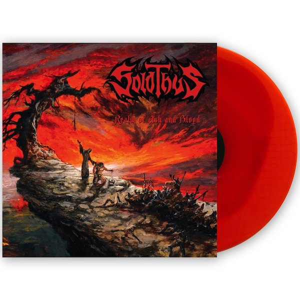Realm of Ash and Blood (transparent red inside transparent orange vinyl)